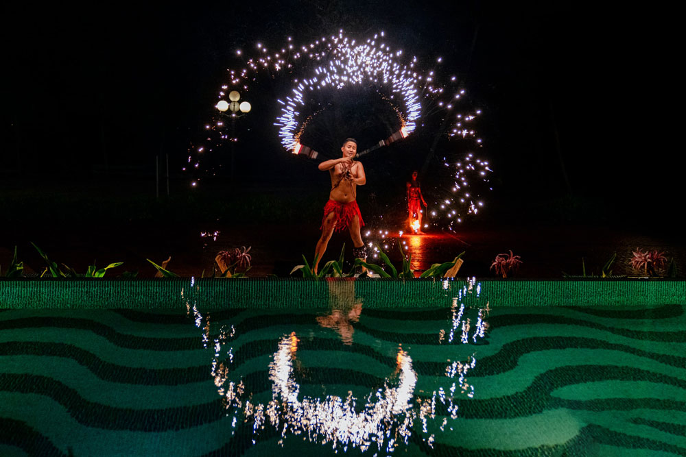Fire dance show at Phu Quoc